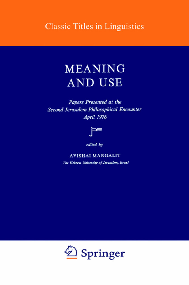 Meaning and Use als Buch (gebunden)