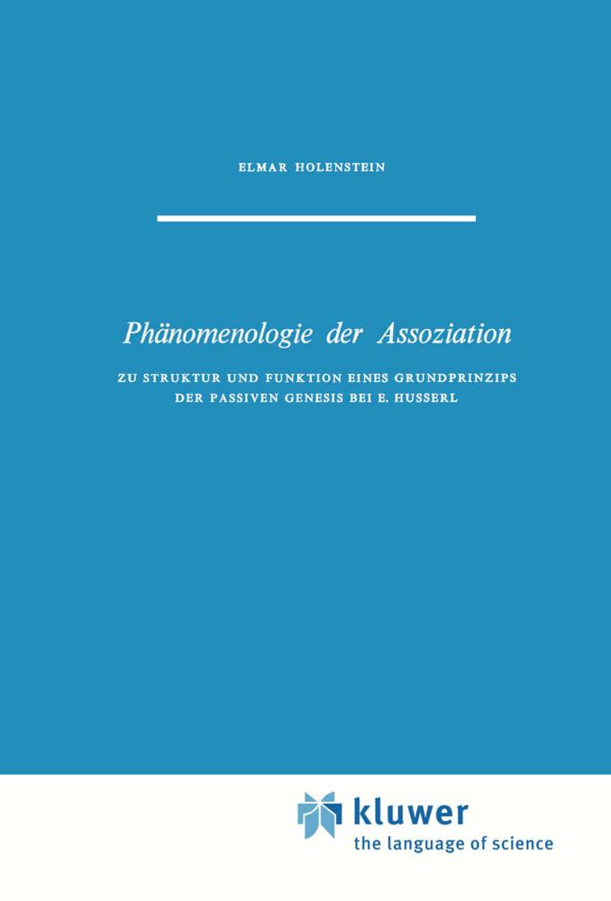 Phänomenologie der Assoziation als Buch (gebunden)