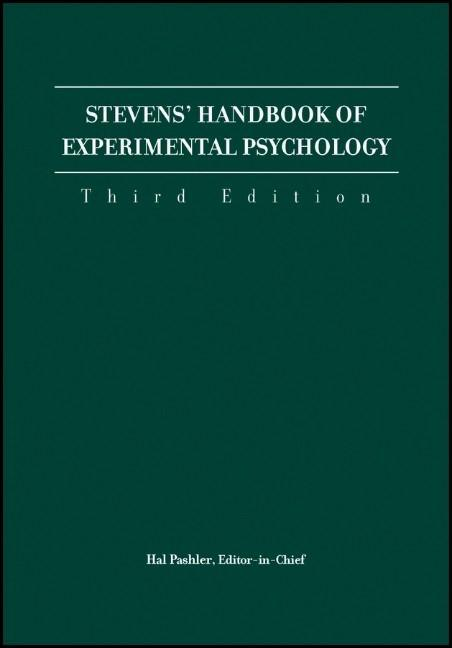 Stevens' Handbook of Experimental Psychology,, 4 Volume Set als Buch (kartoniert)