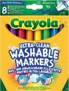 Crayola - Klassik - 8 Ultra Clean ab- und auswaschbare Filzstifte