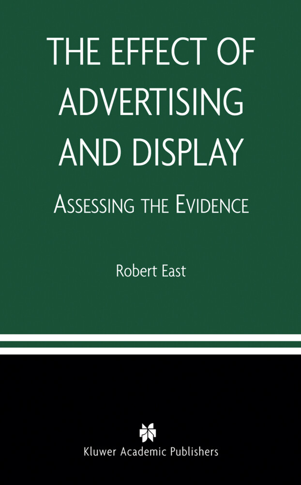 The Effect of Advertising and Display als Buch (gebunden)