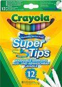 Crayola - Klassik - 12 Supertips Einfach Auswaschbare Filzstifte