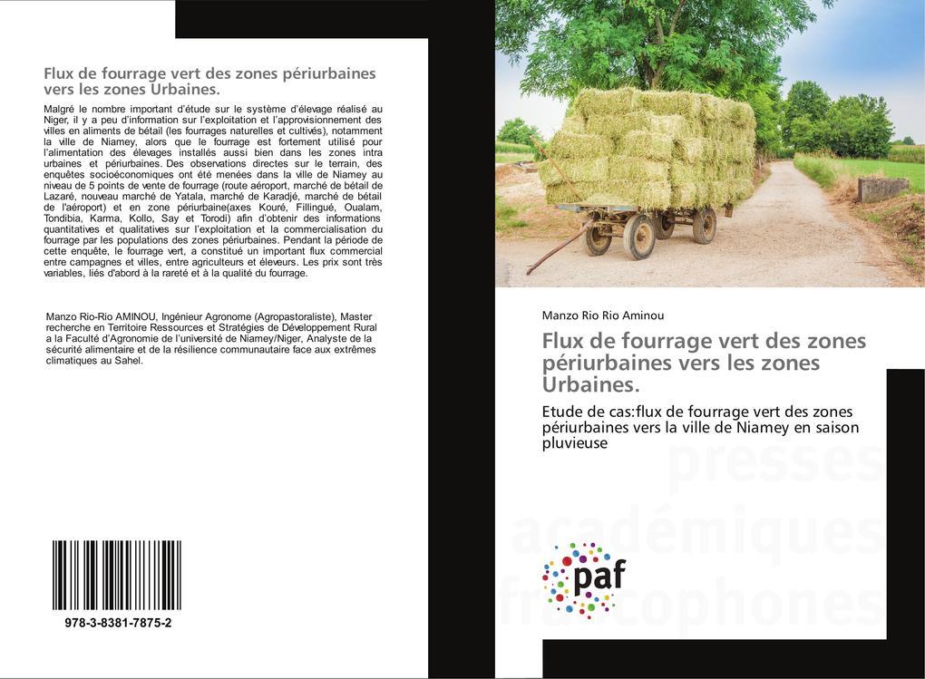 Flux de fourrage vert des zones périurbaines vers les zones Urbaines. als Buch (kartoniert)