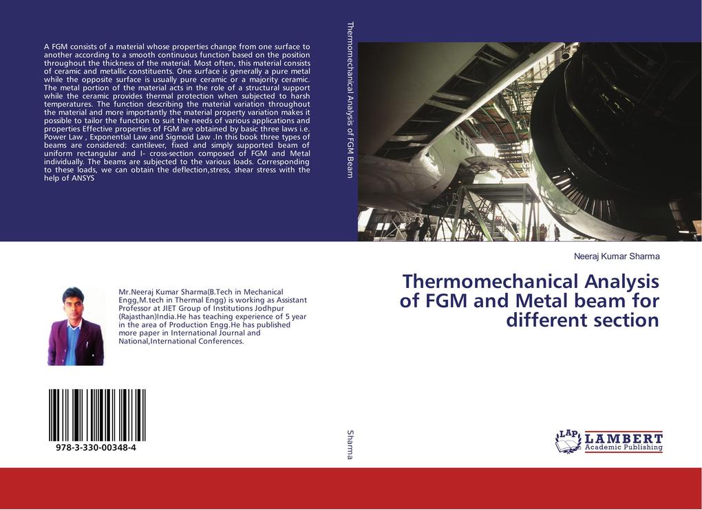 Thermomechanical Analysis of FGM and Metal beam for different section als Buch (kartoniert)
