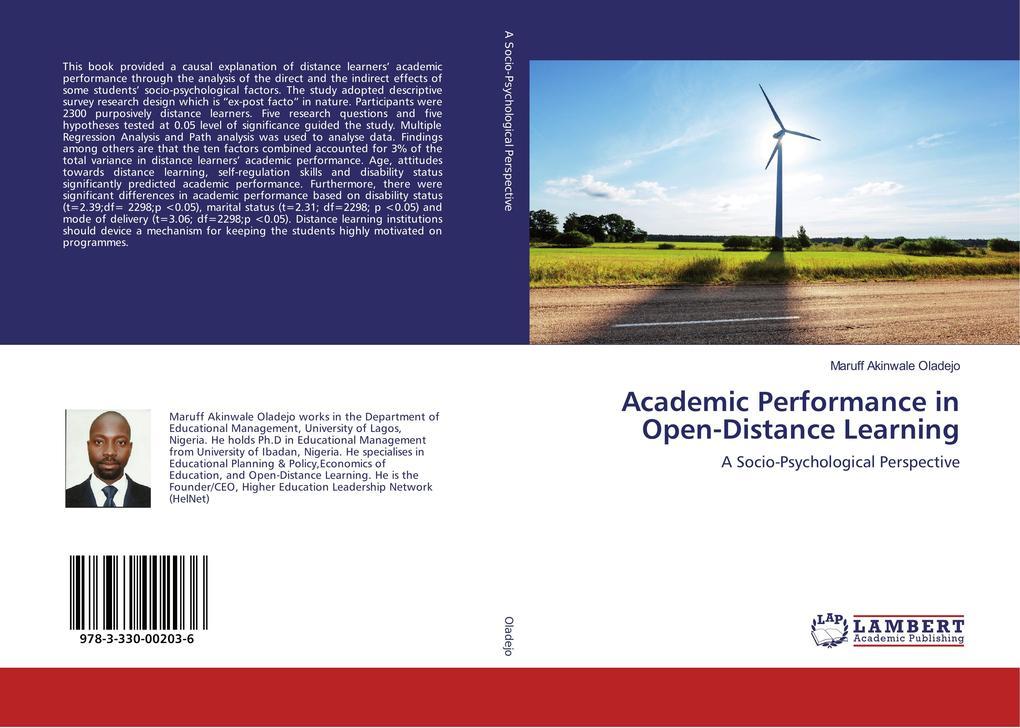 Academic Performance in Open-Distance Learning als Buch (kartoniert)