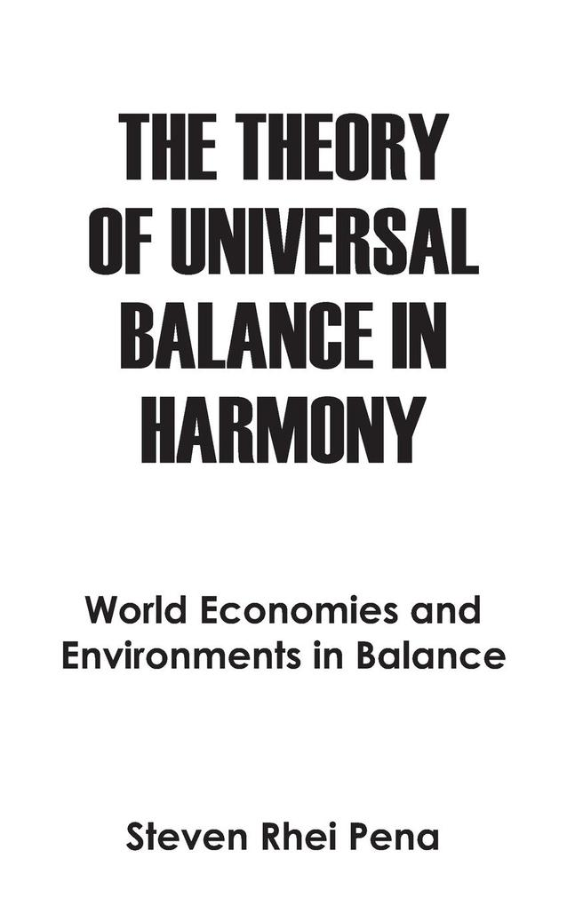 The Theory of Universal Balance in Harmony als Taschenbuch