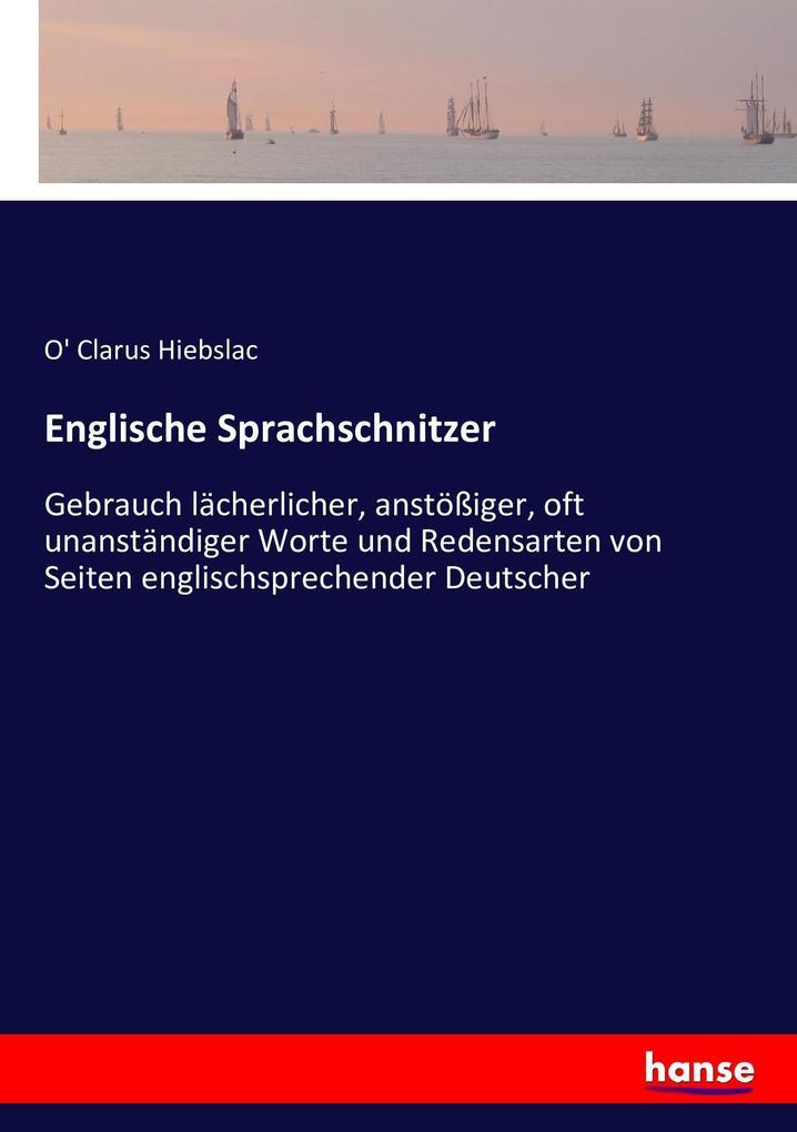Englische Sprachschnitzer als Buch (kartoniert)