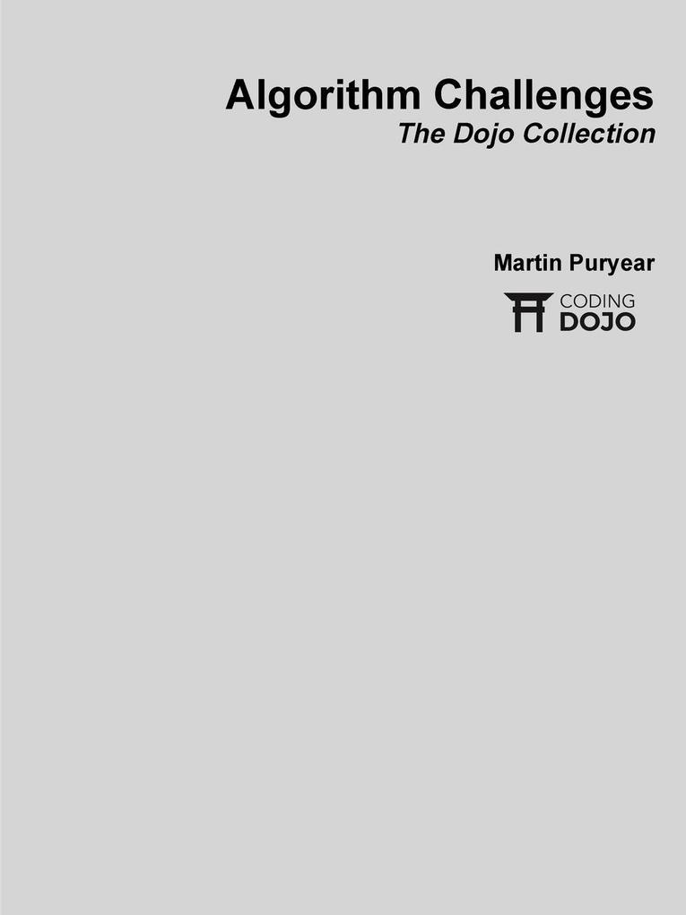 Algorithm Challenges, paperback als Taschenbuch