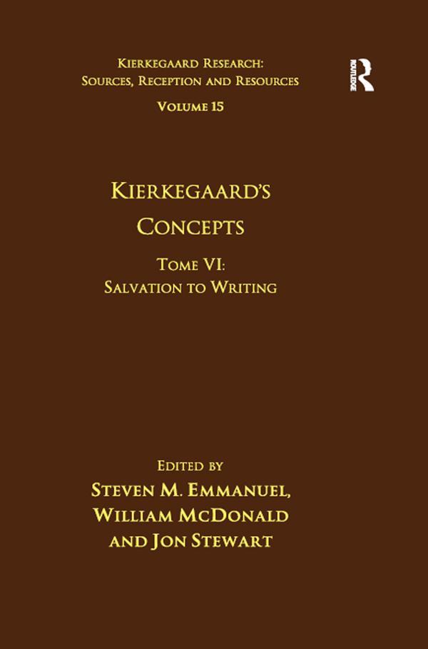 Volume 15, Tome VI: Kierkegaard's Concepts als eBook epub