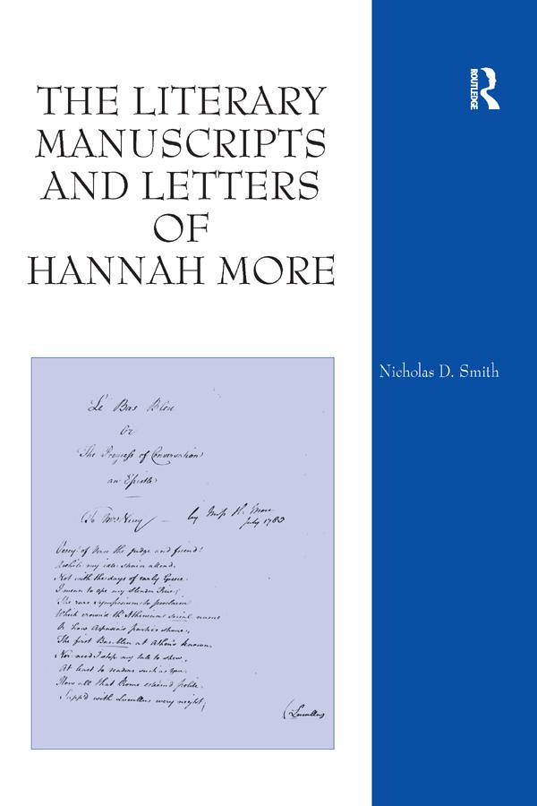 The Literary Manuscripts and Letters of Hannah More als eBook epub
