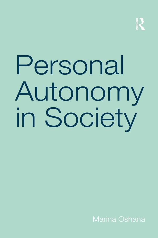 Personal Autonomy in Society als eBook epub