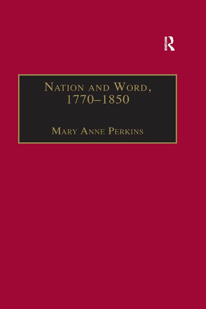 Nation and Word, 1770-1850 als eBook epub