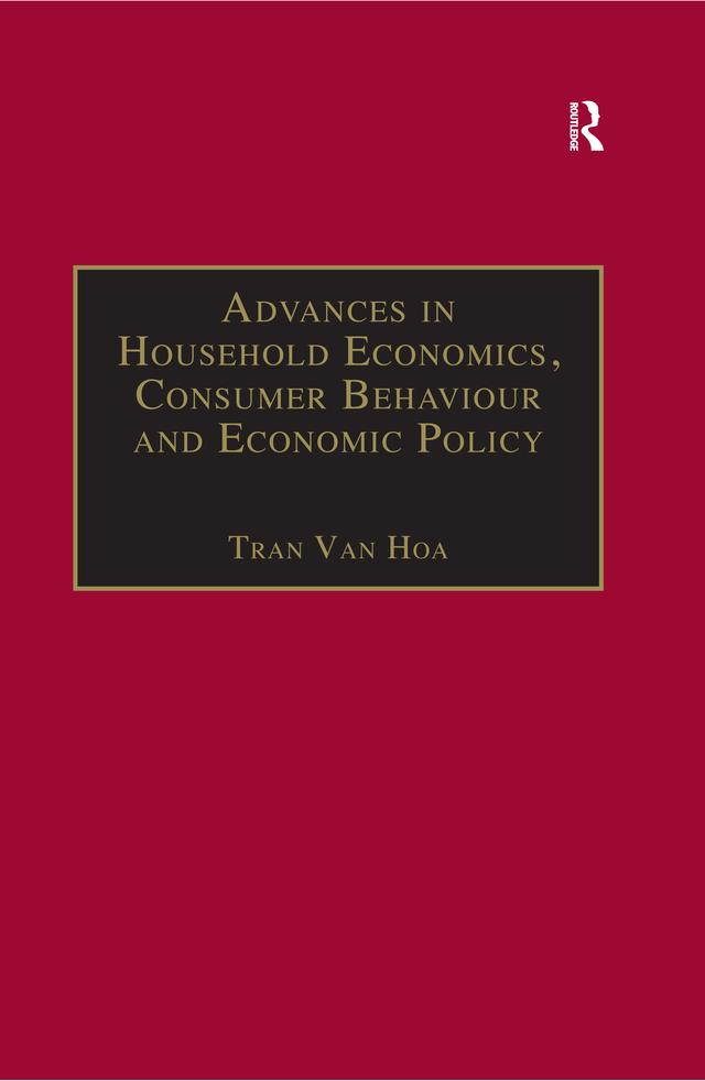 Advances in Household Economics, Consumer Behaviour and Economic Policy als eBook epub