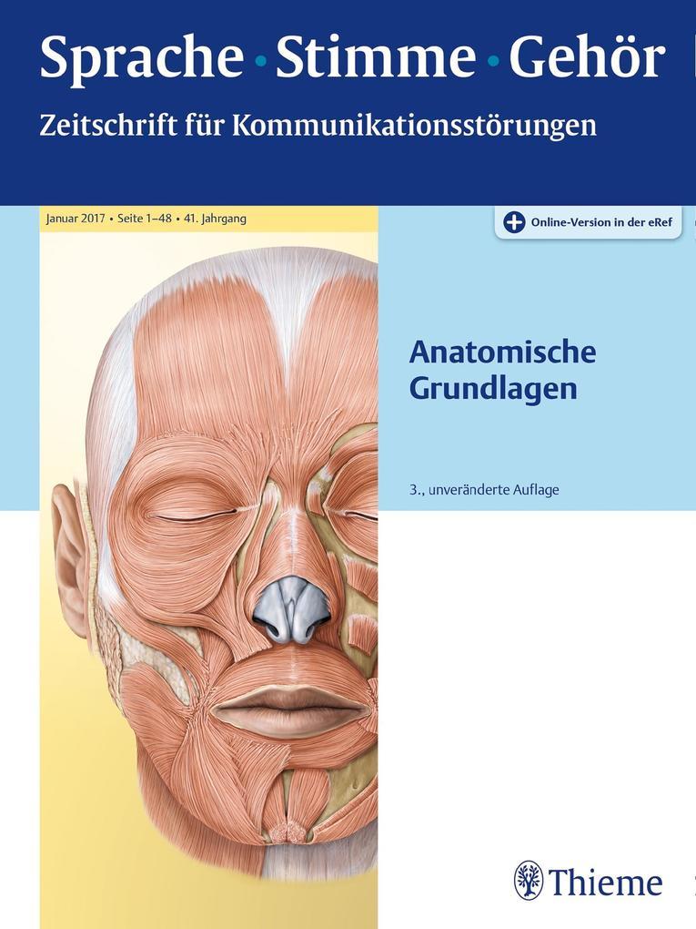 Sprache - Stimme - Gehör - Anatomische Grundlagen als eBook pdf