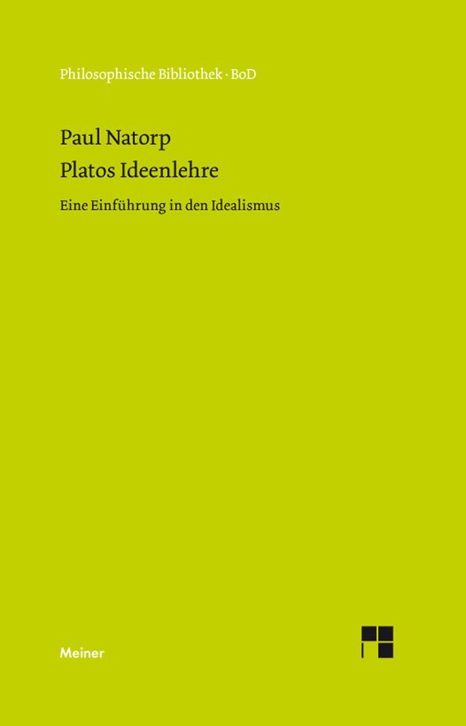 Platos Ideenlehre als eBook pdf