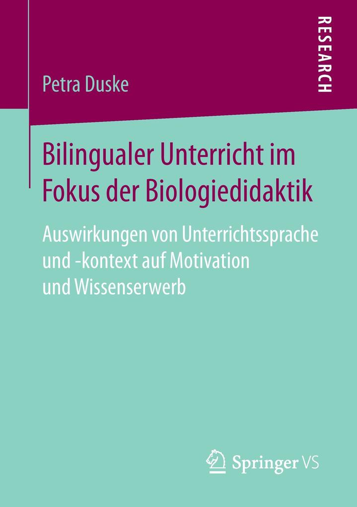 Bilingualer Unterricht im Fokus der Biologiedidaktik als Buch (kartoniert)