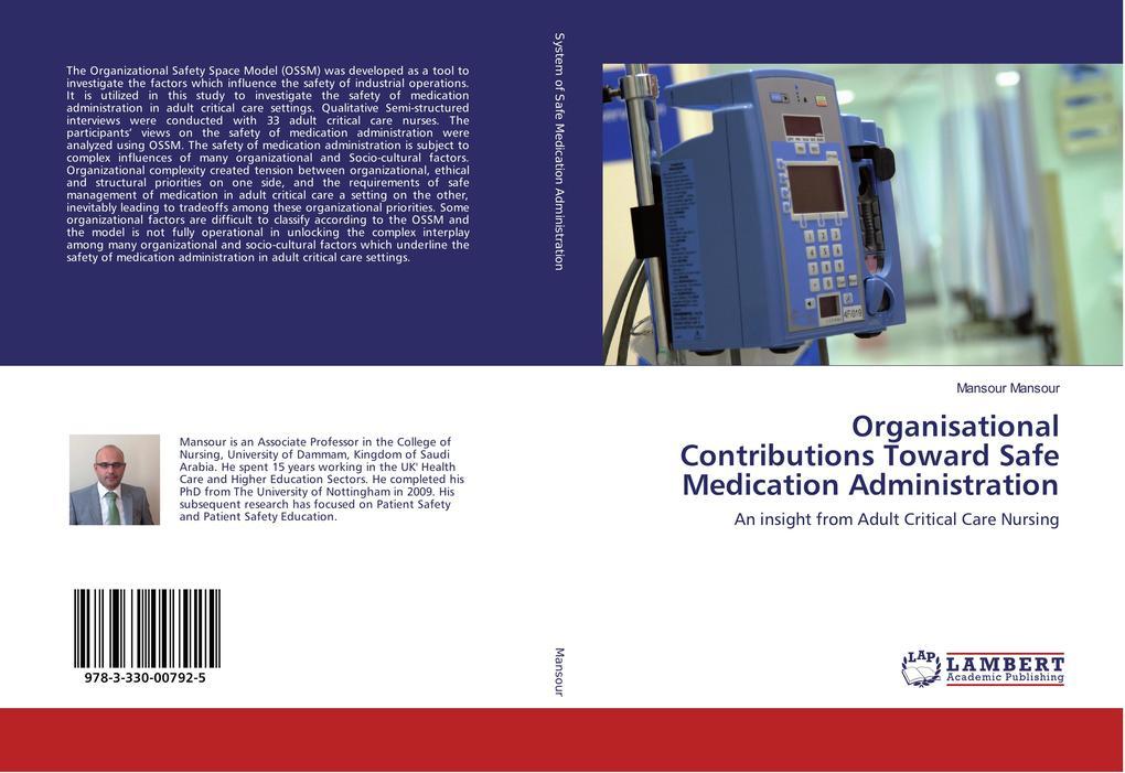 Organisational Contributions Toward Safe Medication Administration als Buch (kartoniert)