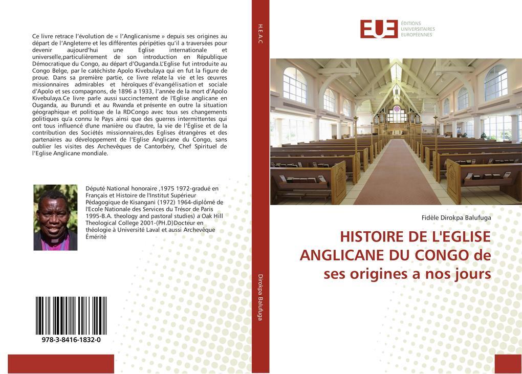 HISTOIRE DE L'EGLISE ANGLICANE DU CONGO de ses origines a nos jours als Buch (kartoniert)