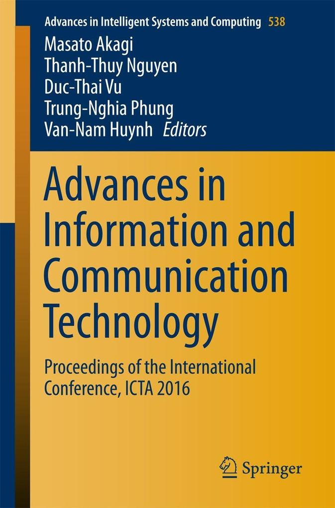Advances in Information and Communication Technology als eBook pdf