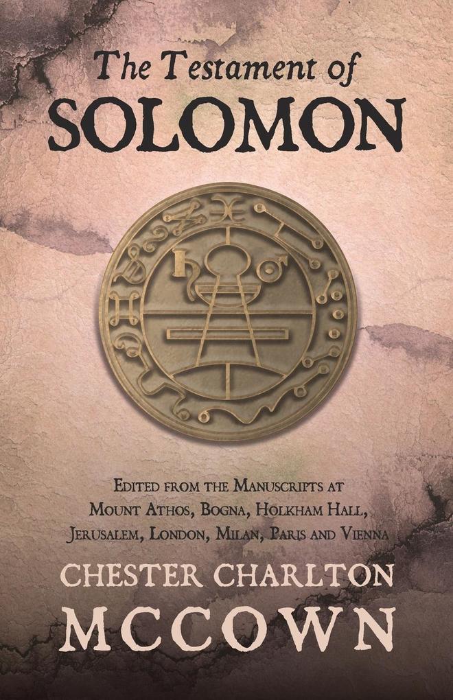TESTAMENT OF SOLOMON als Taschenbuch