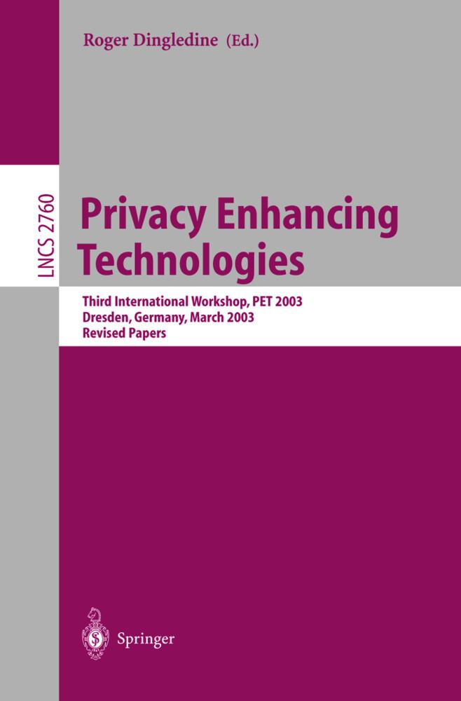 Privacy Enhancing Technologies als Buch (kartoniert)