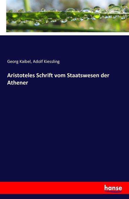 Aristoteles Schrift vom Staatswesen der Athener als Buch (kartoniert)