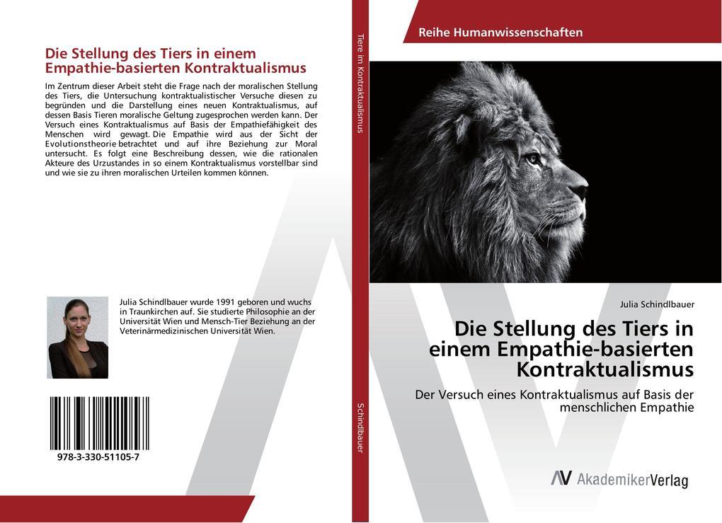 Die Stellung des Tiers in einem Empathie-basierten Kontraktualismus als Buch (kartoniert)