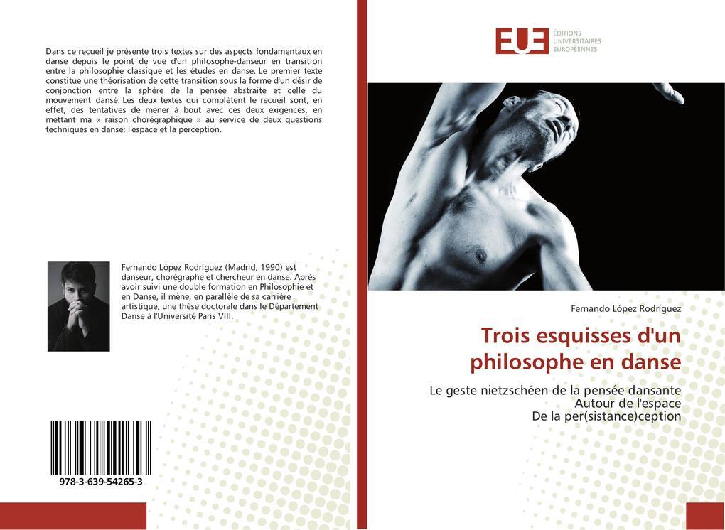 Trois esquisses d'un philosophe en danse als Buch (kartoniert)