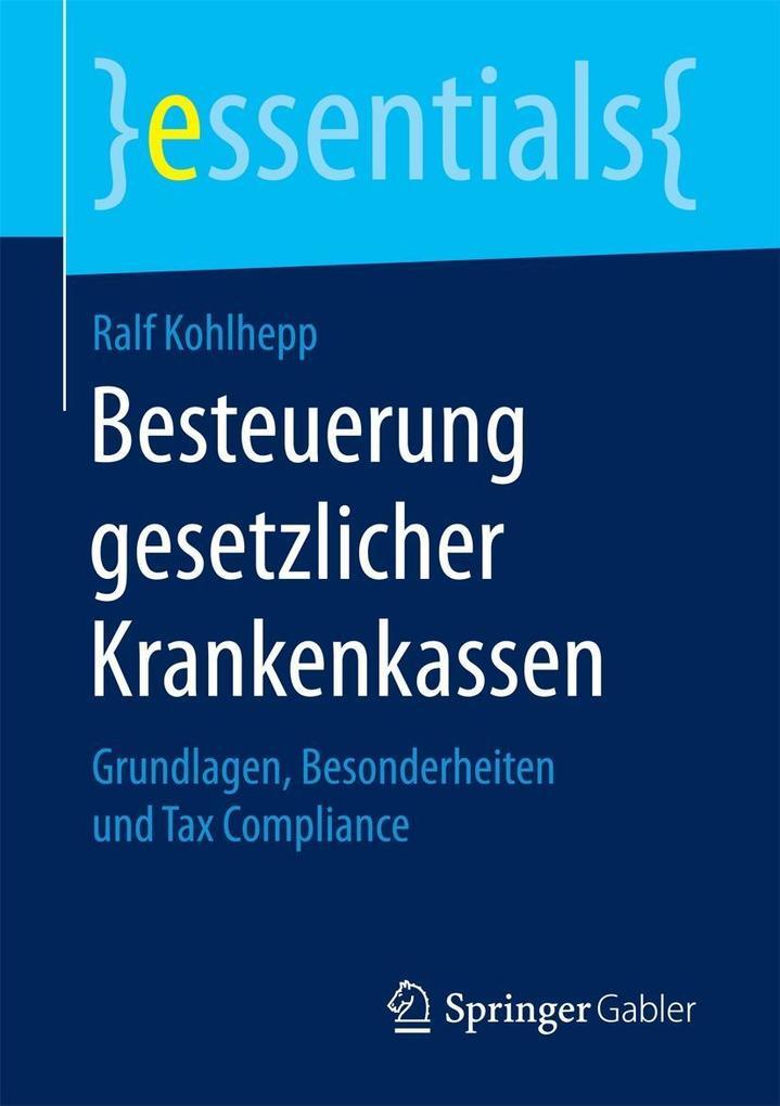 Besteuerung gesetzlicher Krankenkassen als eBook pdf