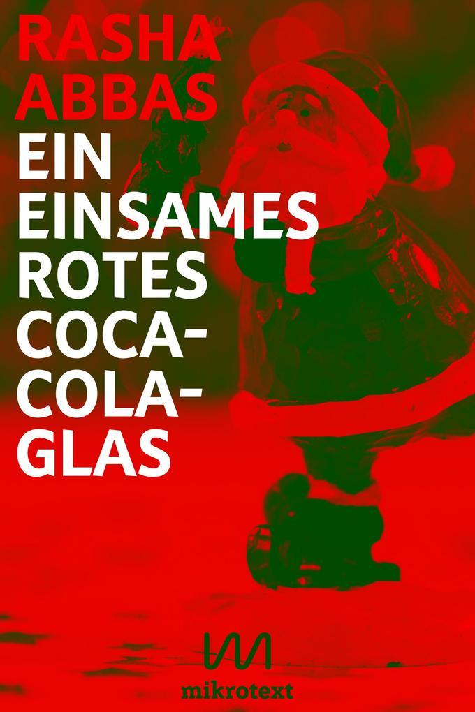 Ein einsames rotes Coca-Cola-Glas als eBook epub