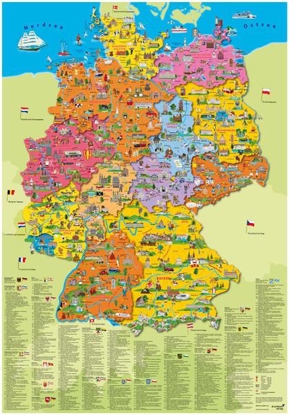 Deutschland politisch Poster als Sonstiger Artikel