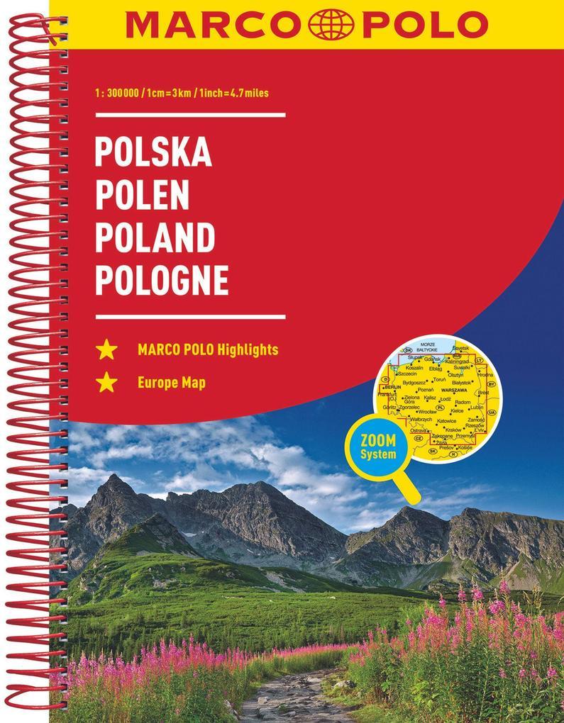 MARCO POLO Reiseatlas Polen 1:300 000 als Buch (kartoniert)