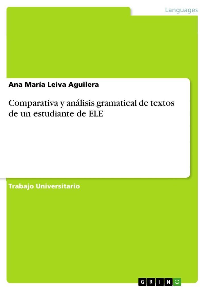 Comparativa y análisis gramatical de textos de un estudiante de ELE als eBook epub