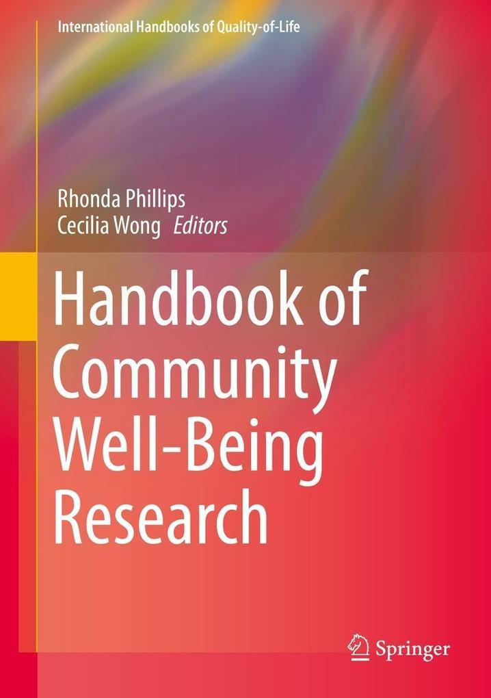Handbook of Community Well-Being Research als eBook pdf