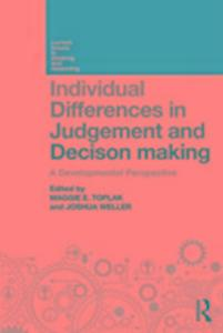 Individual Differences in Judgement and Decision-Making als Taschenbuch