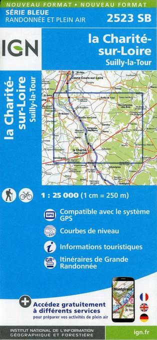 la Charité-sur-Loire.Suilly-la-Tour 1:25 000 als Blätter und Karten