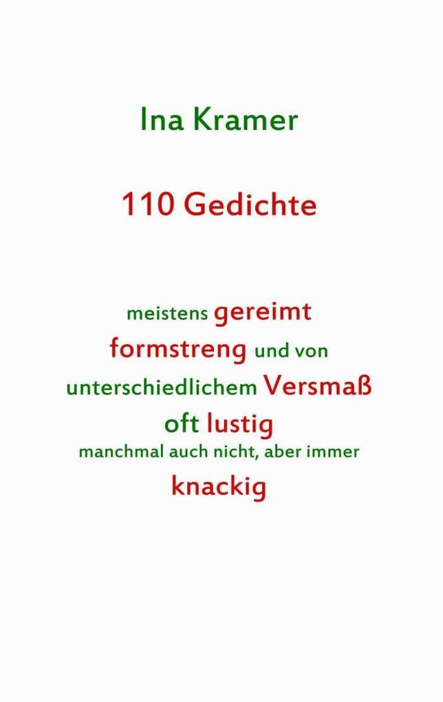 110 Gedichte als eBook epub