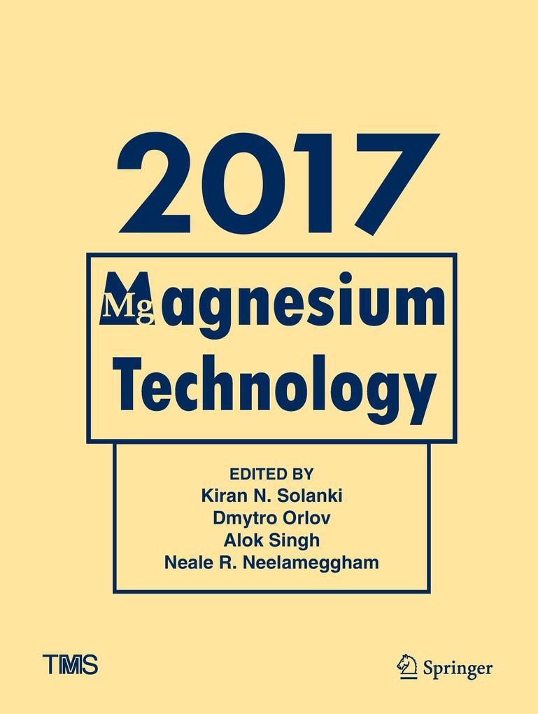 Magnesium Technology 2017 als Buch (gebunden)