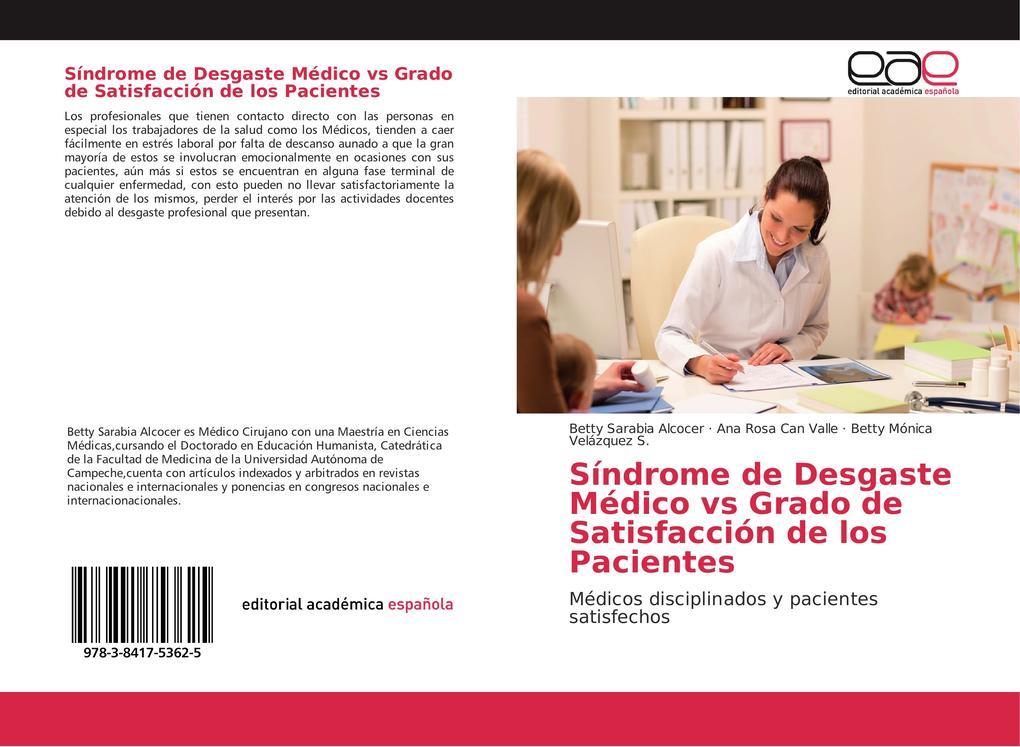 Síndrome de Desgaste Médico vs Grado de Satisfacción de los Pacientes als Buch (kartoniert)