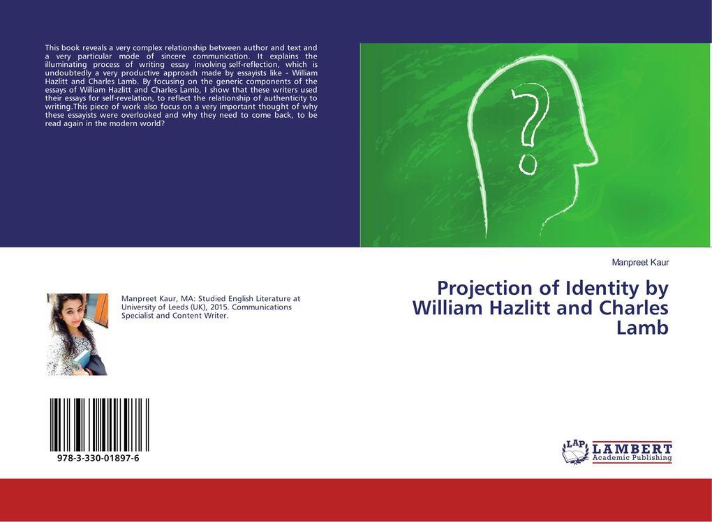 Projection of Identity by William Hazlitt and Charles Lamb als Buch (kartoniert)