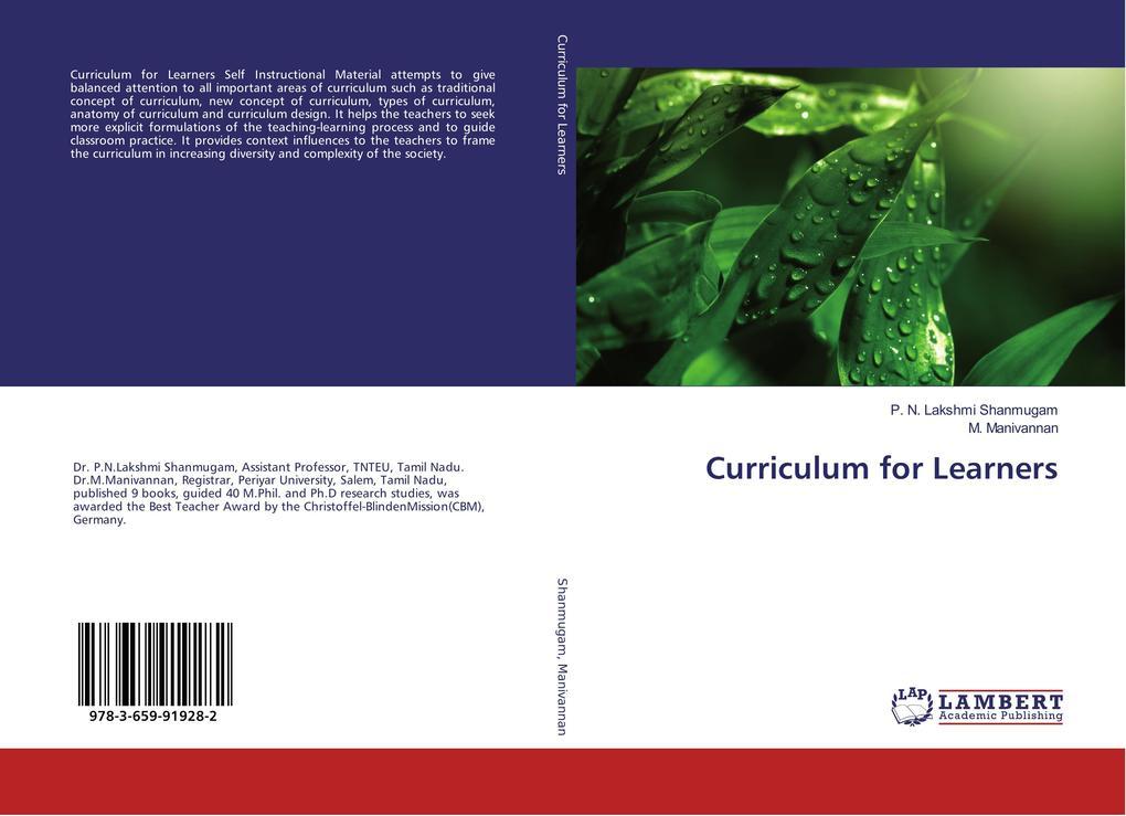 Curriculum for Learners als Buch (kartoniert)