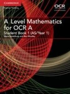 A Level Mathematics for OCR Student Book 1 (AS/Year 1) als Taschenbuch