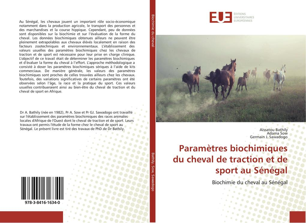 Paramètres biochimiques du cheval de traction et de sport au Sénégal als Buch (kartoniert)