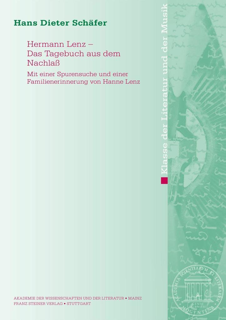 Hermann Lenz - Das Tagebuch aus dem Nachlaß als eBook pdf