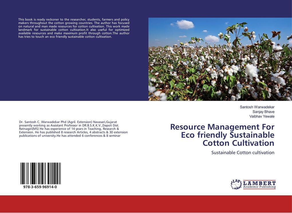 Resource Management For Eco friendly Sustainable Cotton Cultivation als Buch (kartoniert)