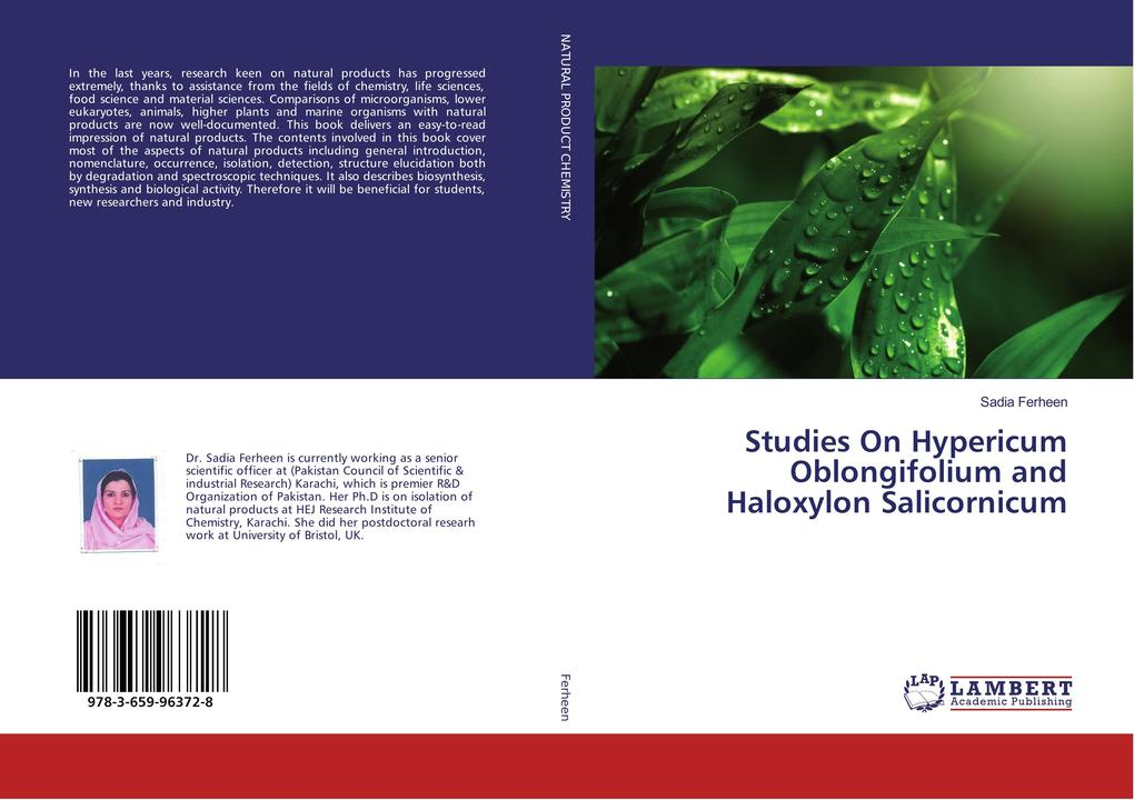 Studies On Hypericum Oblongifolium and Haloxylon Salicornicum als Buch (kartoniert)