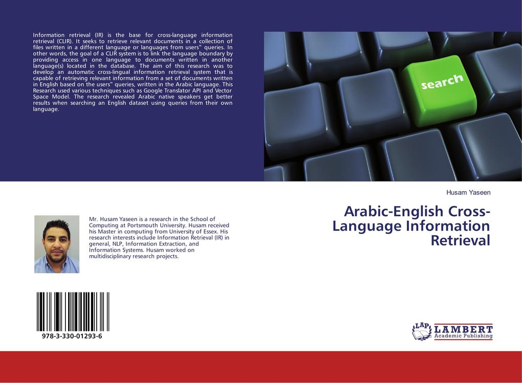 Arabic-English Cross-Language Information Retrieval als Buch (kartoniert)