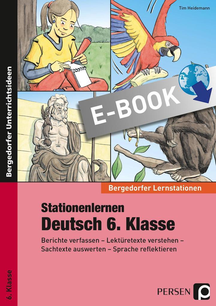 Stationenlernen Deutsch 6. Klasse als eBook pdf
