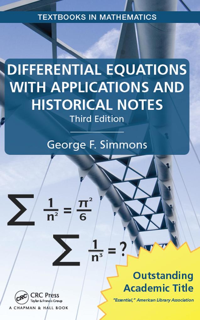 Differential Equations with Applications and Historical Notes als eBook epub