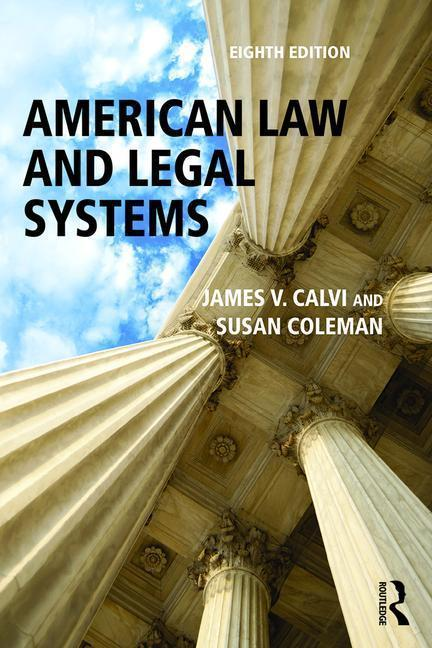 American Law and Legal Systems als Taschenbuch